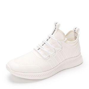 Belle/百丽2018夏季专柜时尚字母编织带纺织品/KPU平底男休闲鞋5PK0AAM8