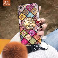 iPhone6plus手机壳个性苹果6 4.7保护套女款ip6s防摔平果6s潮ip6 +毛球