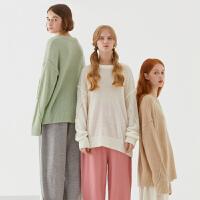 【全场2件2.5折,到手价:134.8】美特斯邦威开衫毛衣女2019冬季新款休闲潮流时尚舒适女士长袖毛衣