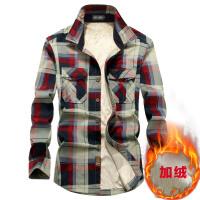 AFS JEEP长袖衬衫男士休闲开衫大码军装吉普秋季宽松休闲衬衣1598