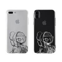 Tom原创潮牌解剖KAWS苹果XsMax手机壳趣味日系卡通iphone8p软壳透 解剖KAWS白线-iphone X