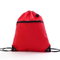 束口袋抽绳双肩包培训运动防水包袋子男女户外小背包