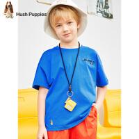 【2件5折:86元】暇步士童装男童圆领衫夏装新款儿童短袖T恤炫彩棉中大童上衣