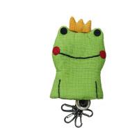 青蛙王子钥匙包材料包(进口面料,方便的多头钥匙挂扣,畅销书《超可爱贴布缝的童话王国》经典造型)