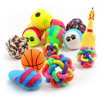 宠物发声狗狗玩具磨牙耐咬玩具球训练泰迪小猫幼犬狗咬胶宠物用品hu3