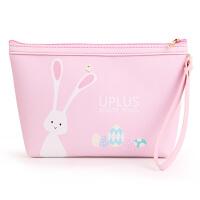 优家(uplus)多用途卡通大号粉色梯形化妆包(手拿包 收纳袋 化妆品收纳包 储物袋)