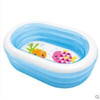 椭圆水池加厚小孩儿童圆海洋球泳池家用宝宝充气透明游泳池婴幼儿洗澡盆