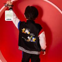 【3折�A估�r:93.2元】迪士尼男童��加�q外套�和�����秋冬新款�r尚洋�馔��b棒球服上衣