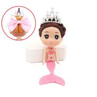 美人鱼娃娃公主16cm迷糊娃娃裸娃素体洗澡泡泡浴情景烘焙模具 /蝴蝶结 如图约16cm