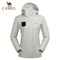 camel骆驼户外冲锋衣 男女防风潮牌两件套登山服冲锋衣