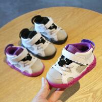 宝宝鞋秋冬季男女童0-3岁机能鞋小白鞋婴儿软底1-2学步鞋小童棉鞋