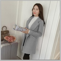 毛呢外套女中长款新款韩版修身学生茧型小个子矮短款呢子大衣