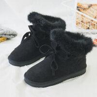 雪地靴女短筒韩版百搭学生加厚2018冬季新款加绒保暖防滑流苏短靴