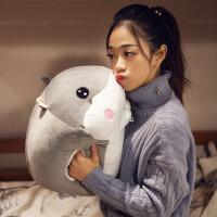 超软公仔暖手抱枕手捂毛绒玩具仓鼠布偶娃娃可爱睡觉韩国搞怪女生
