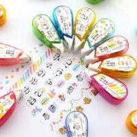 日本plus普乐士花边带装饰带图案装饰带10mm宽可爱少女小清新日记diy手账修正带重点标记彩色学生用进口文具
