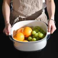 双层家用厨房洗菜盆沥水篮洗菜篮洗菜篓水果盘洗水果蔬菜洗菜