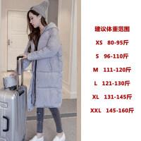 韩版ins过膝冬季女装外套加厚棉袄学生面包服棉衣女中长款潮