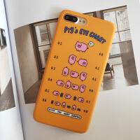 新品苹果xsmax创意猪猪手机壳iphone6s卡通保护套7/8plus视力表xr