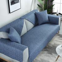 棉北欧沙发垫四季通用布艺坐垫防滑客厅简约现代棉沙发套定制! 蓝色格调