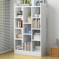 书柜书架落地简约现代小书架学生用简易桌上置物架卧室组合仿实木3uc