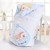纯棉婴儿抱被春夏秋冬四季可用 可脱胆冬款加大加厚新生儿抱被睡袋两用 100cm*100cm(可脱胆)