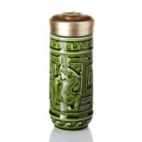 乾唐轩活瓷杯龙腾四海随身杯双层陶瓷保温水杯杯子商务礼品