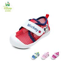 迪士尼Disney童鞋18新款婴童宝宝鞋时尚透气米奇幼童学步鞋宝宝步前儿童圆头运动鞋 (0-4岁可选)DH0333