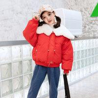 女童棉衣冬装2018新款童装儿童韩版加厚棉袄小女孩短款外套潮