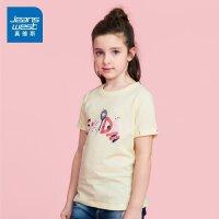 [夏日折扣,满200减50,满300减70]真维斯女童 夏装 圆领印花短袖T恤潮