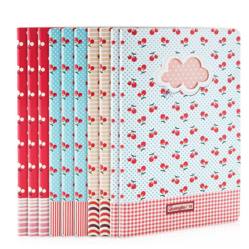 广博小清新可爱缝线本学生笔记本日记本软面抄记事本A5本子单本装