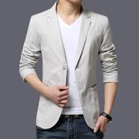 春秋季薄款男士休闲西装男外套上衣件潮流修身韩版青年小西服男