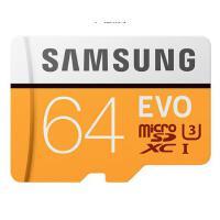 三星(SAMSUNG)64GB TF(MicroSD)存储卡 U3 C10 4K EVO升级版 读速100MB/s 手