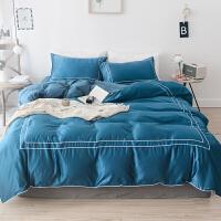 简约风柔软舒适网红套件1.5m1.8m床笠刺绣床上用品四件套