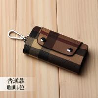 多功能时尚钥匙包韩国女式学生情侣钥匙包男士腰挂钥匙扣汽车包s6 普通款-咖啡色