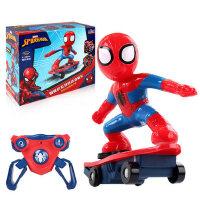 儿童玩具社会人蜘蛛侠抖音同款奇特滑板车电动耐摔特技遥控车旋转