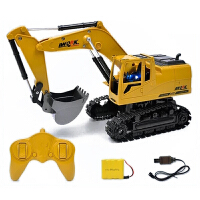 遥控挖掘机合金遥控挖土机玩具电动工程车男孩模型汽车钩勾机
