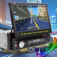 汽车通用单锭伸缩屏自动伸缩导航仪 手动折叠车载DVD一体机可货车SN1924