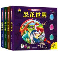 小手电大探秘系列书套装 手电筒系列 视觉大发现第一次发现丛书儿童百科全书海洋世界 恐龙时代全套书籍少儿探险揭秘图