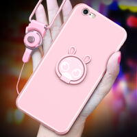 苹果6splus手机壳iPhone6软硅胶6s女卡通6plus网红全包防摔6sp可爱少女6P情侣保护