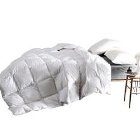 家纺羽绒被白鹅绒被子加厚保暖冬被酒店双人被芯学生 白色 全棉磨毛 白鹅绒被 220x240cm(绒重125
