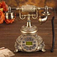 0721095231973旋转盘仿古老式电话座机欧式电话机复古电话机时尚创意电话机