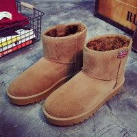 冬季新款雪地靴女短筒棉鞋女学生平底加绒保暖靴子女短靴棉靴
