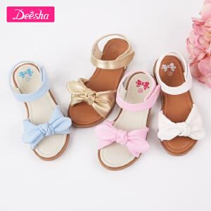 【3折价:83】笛莎女童夏季新款公主凉鞋中大童皮鞋小女孩儿童时尚软底鞋子