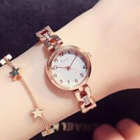艾奇 金米欧韩版石英表简约时尚潮流薄款防水钢带女生正品学生女士手表