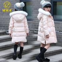 女童羽绒服中长款2018冬装新款潮儿童装加厚羽绒服女大童韩版外套