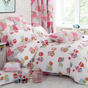 多喜爱纯棉四件套卡通床上用品套件森林精灵
