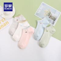 【预估到手价:42叠券更优惠】罗蒙简约女士船袜夏季新款薄款弹力舒适袜子透气短筒袜5双装