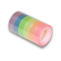 新彩虹胶带 小胶条 文具胶带 透明胶条12厘米宽12米长 6个装/筒