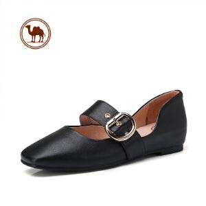 骆驼牌女鞋 新品时尚优雅玛丽珍鞋复古摩登女鞋方头单鞋