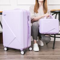 玫瑰金行李拉杆箱24万向轮男硬箱登机密码子母旅行箱包女20寸